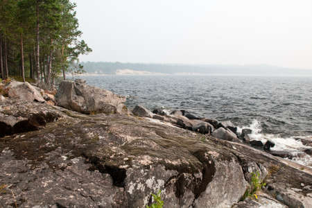 Shore of Lake Onega Stock Photo - 10588223