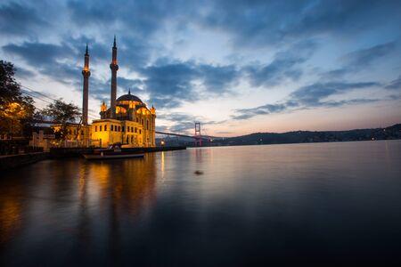 Ortakoy Mecidiye mosque the Bosphorus Bridge