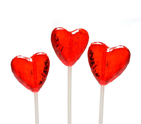 Three heart shaped lollipops for Valentines Day from my Valentine series photo