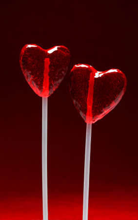 Two heart shaped lollipops for Valentines Day from my Valentine series photo