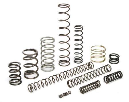 springs: Various metal springs over white