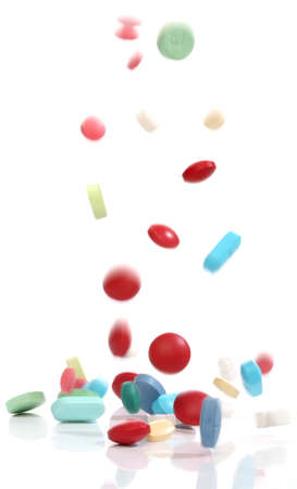Falling medicine pills, from my pharmacy series photo