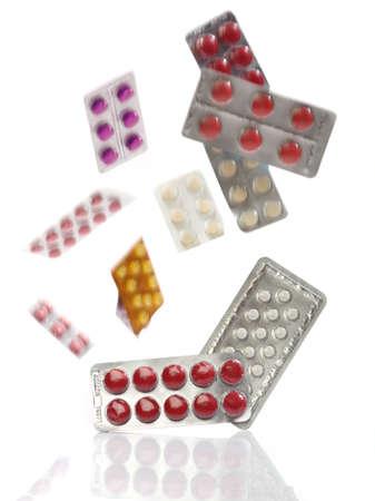 blister: Vallende geneeskunde pillen blisterverpakkingen, uit mijn apotheek serie