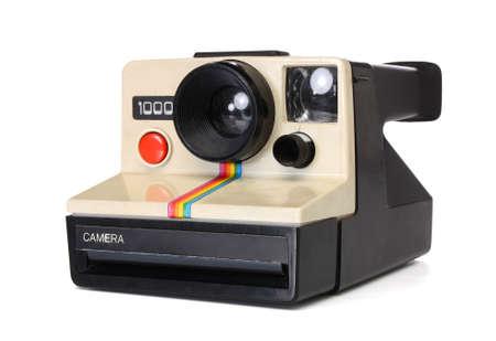 instant camera: Polaroid instant camera, with path