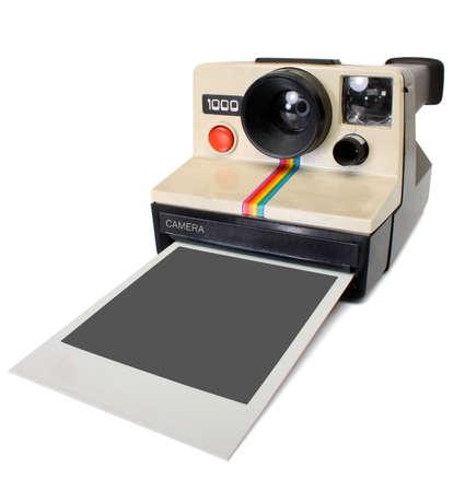 Polaroid instant camera, with path