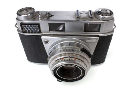 Old 35mm camera. Retro revival image. photo