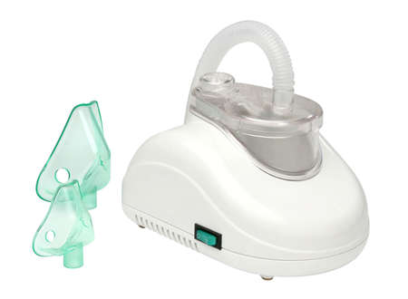 Nebulizer machine over white