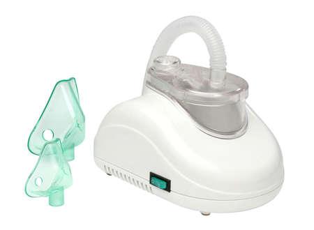 inhale: Nebulizer machine over white