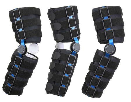 Leg brace over white. Orthopedic series Stock Photo - 5781830