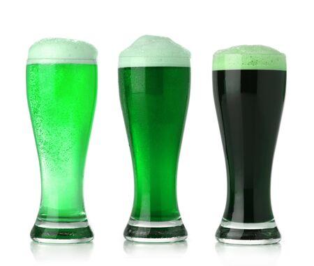 St. Patrick's Day green beer Standard-Bild