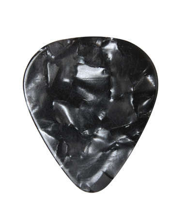 guitar pick: Guitar pick isolated on white