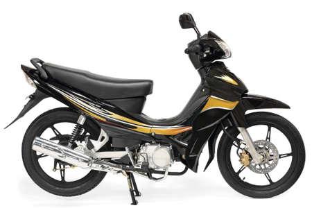 frenos: Moto scooter agradable sobre fondo blanco