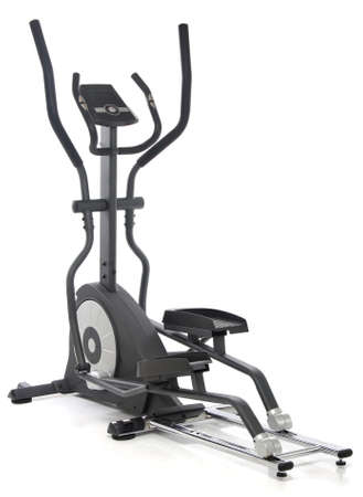 Elliptical Fitness-Studio-Maschine over white background  Standard-Bild
