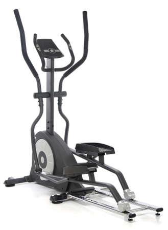 Elliptical gym machine over white background