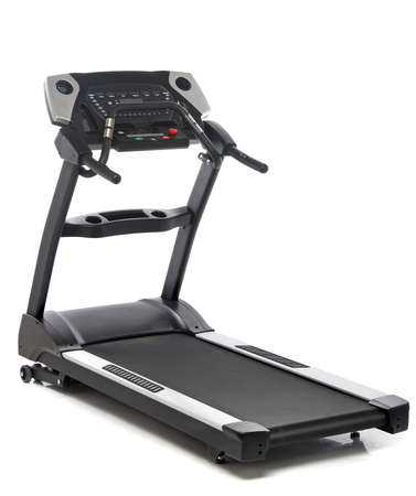 gym equipment: Treadmill isolated on white background Stock Photo