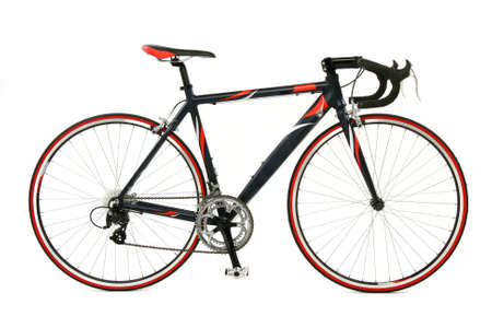 racing bike: Speed racing bicycle over white background