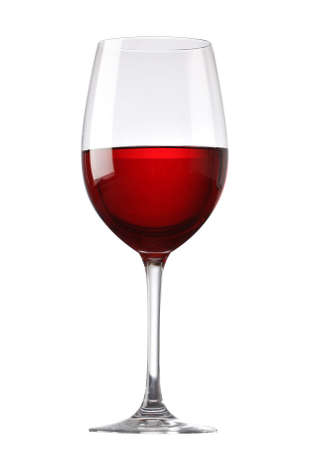 wine background: Red wine glass isolated on white background
