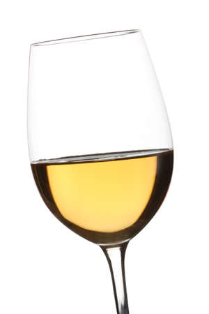 white wine glass: White wine glass isolated over white background Stock Photo