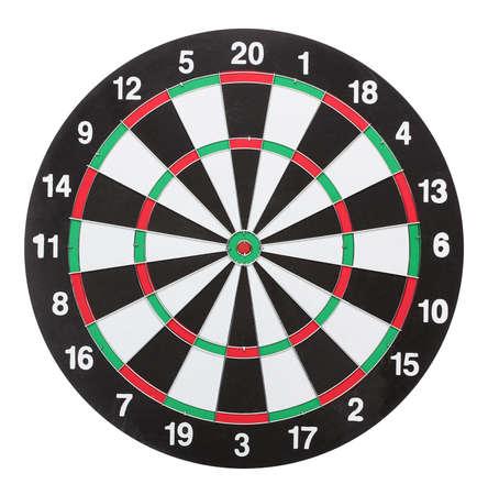 dartboard: Dartboard isolated on white background Stock Photo