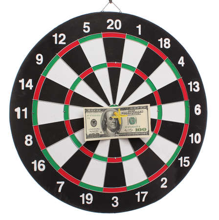 Dollar on bulls eye photo