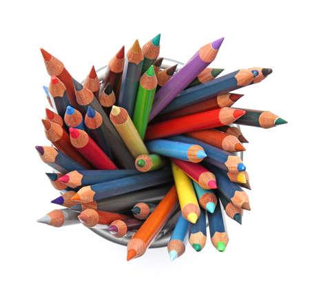 colour pencils: Group of color pencils Stock Photo