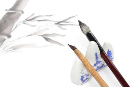 Japanische Malerei Elemente für sumie