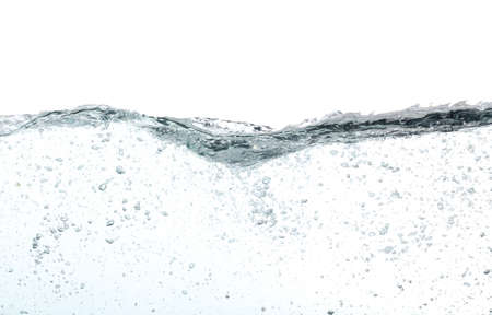 Waves of water with lots of bubbles, over white Stock Photo - 13978190