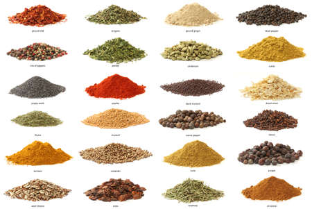indian spice: Different spices isolated on white background  Large Image
