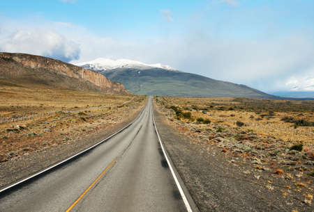 Desert highway at Patagonia, south of Argentina photo