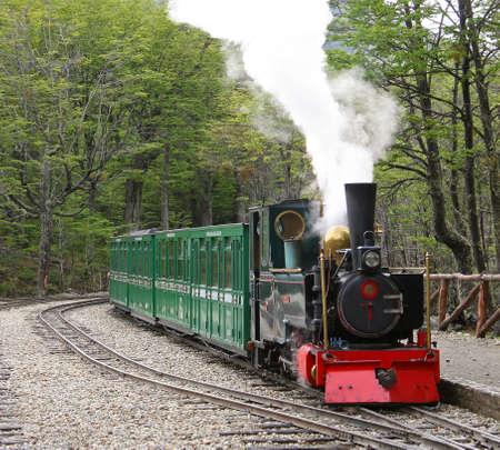fuego: Historic train at Tierra del fuego, Argentina
