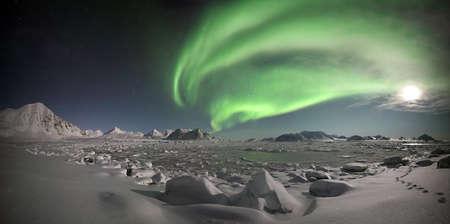 Northern Lights panorama Stock Photo - 8045813