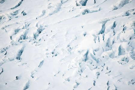 crevasse: People on the glacier