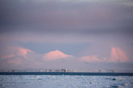 WInter Arctic landscape - Spitsbergen, Svalbard photo