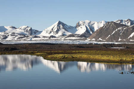 antarctic: Typical Arctic summer landscape - Spitsbergen Stock Photo