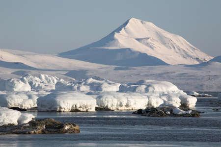 svalbard: Winter Arctic landscape, Spitsbergen, Svalbard