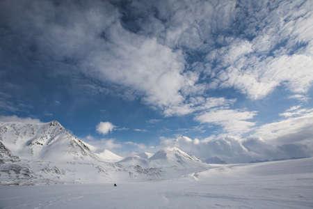 spitsbergen: Winter Arctic landscape, Spitsbergen, Svalbard