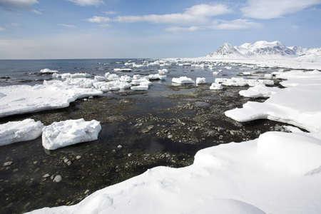 spitsbergen: Arctic winter landscape - Spitsbergen, Svalbard