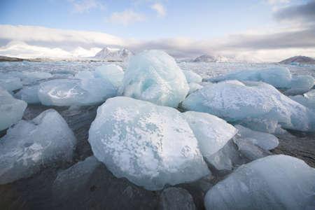 svalbard: Ice on the shore - Spitsbergen, Svalbard