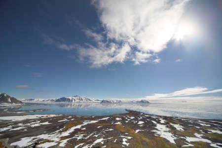 alpine tundra: Summer Arctic landscape Stock Photo