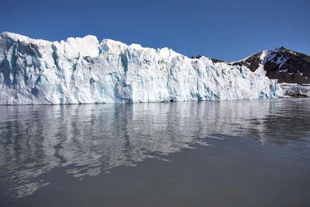 svalbard: Glacier landscape (Svalbard, Arctic)  Stock Photo