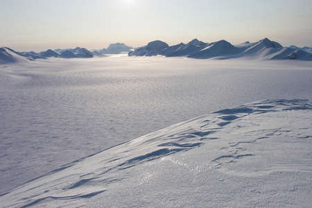 WInter Arctic landscape - view from the mountains