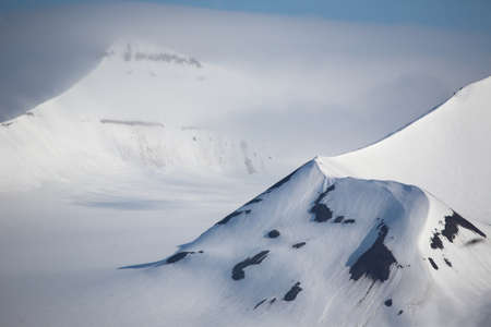 Arctic cloudy weather (Svalbard) Imagens