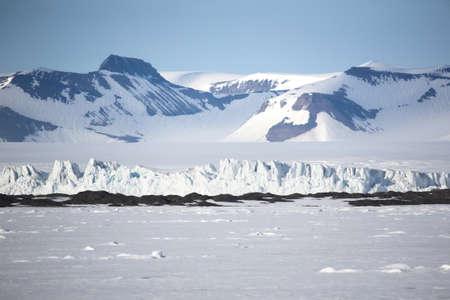 arctic: Typical Arctic winter landscape