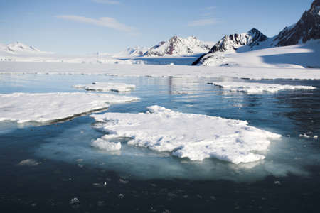 antarctic: Melting ice on the sea surface - Arctic climate