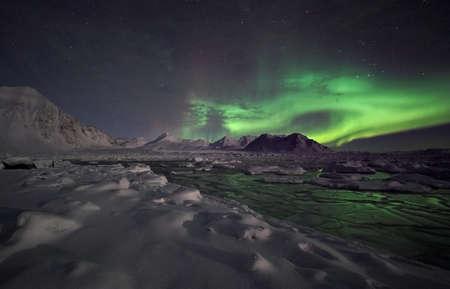 Natural phenomenon of Northern Lights (Aurora Borealis) Stock Photo - 10907003