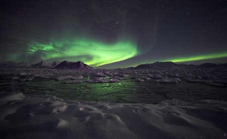 laponie: Ph�nom�ne naturel des aurores bor�ales (Aurora Borealis)