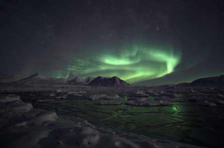 lapland: Natural phenomenon of Northern Lights (Aurora Borealis)