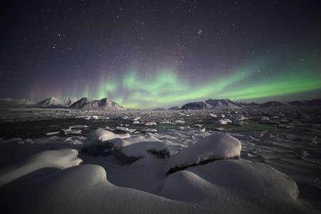 polar light: Fen�meno natural de luces del norte (Aurora Borealis)