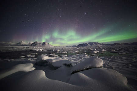borealis: Natural phenomenon of Northern Lights (Aurora Borealis)
