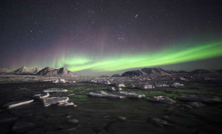 Natural phenomenon of Northern Lights (Aurora Borealis)  Stock Photo - 10907006
